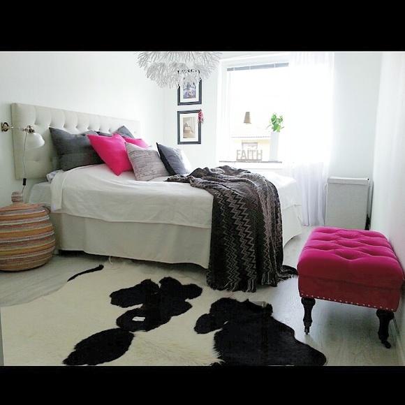 sovrum,säng,marockanskt,rosa,vitt