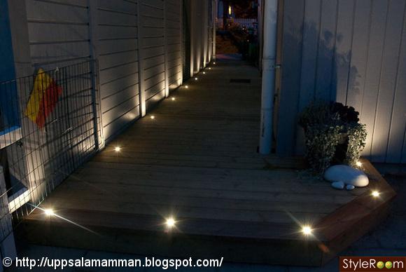 spotlight,spotlights,utebelysning,decklight,trädgård altan