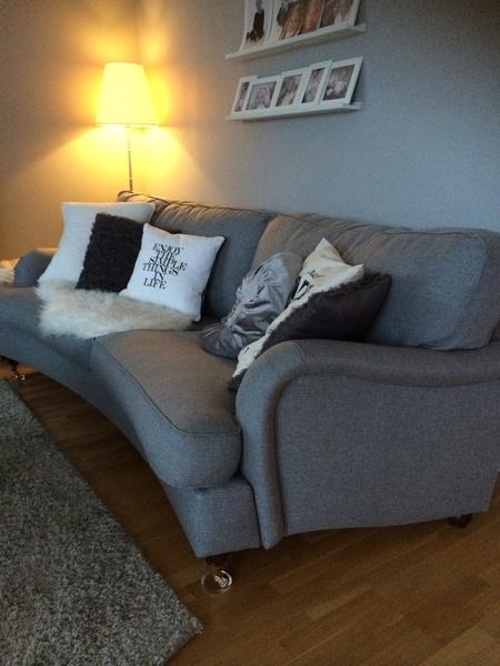 soffa,howard,grå,grått,kuddar