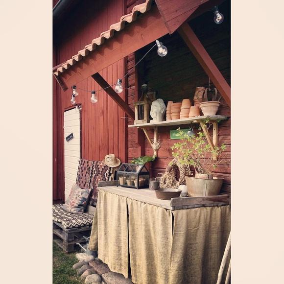 trädgård,utekök,lantligt,planteringsbord