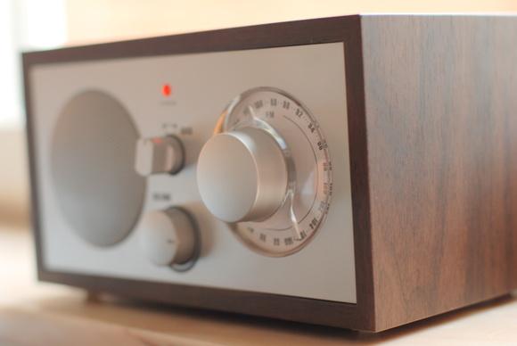 radio,valnöt,silver,retro