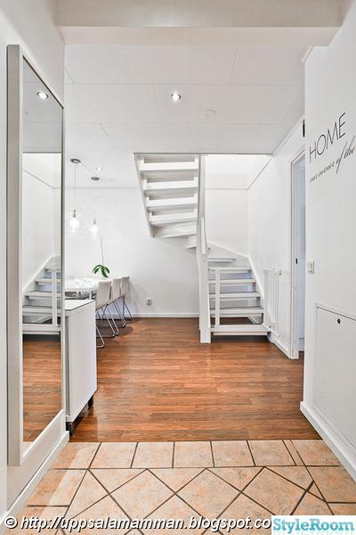 vitmålad trappa,trappa,hall