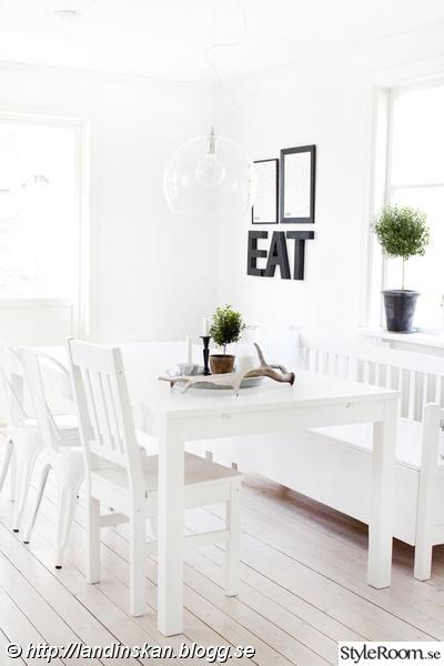 kök,vitt,matbord,matplats,stol