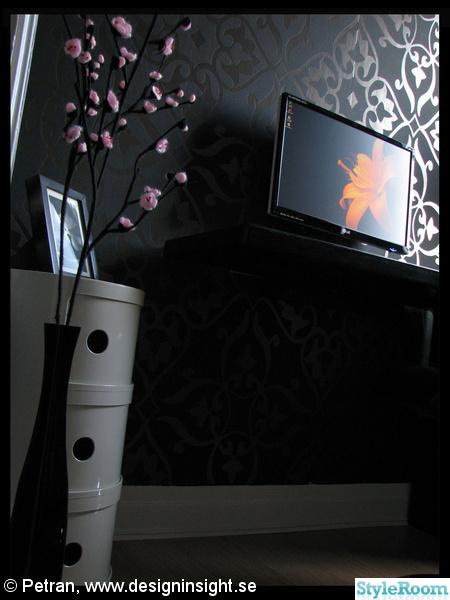 svart,mönstrad tapet,dator