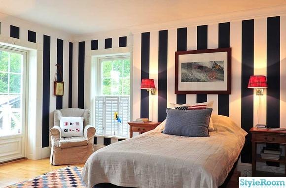 Tapeter en klippbok om inredning for New england style bedroom