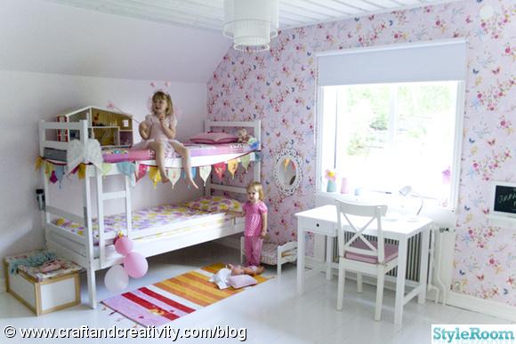 barnrum,rosa,rosa tapet,pip studio,mio