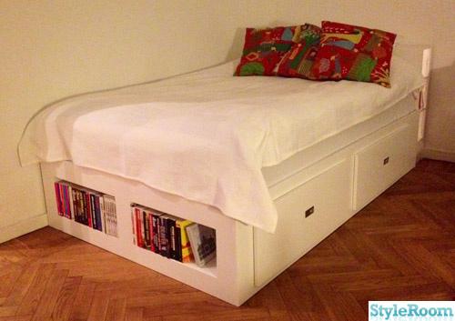 Säng med förvaringslådor Hemma hos hampasnoret
