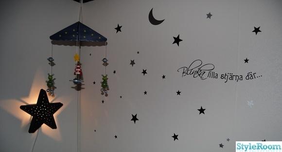 sängmobil,stjärnor väggord