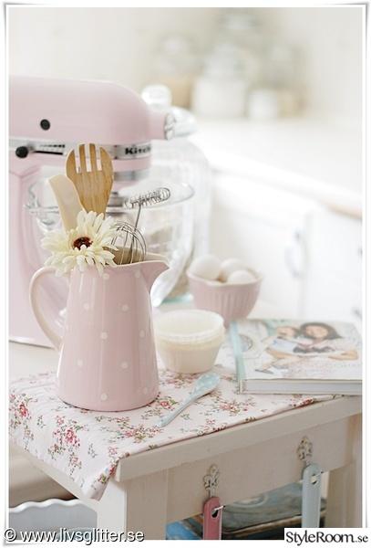 pastell,rosa,kitchen aid,vit,ljust