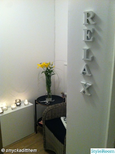 relax,spa rum,bokstäver,ljus,blommor