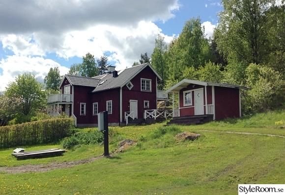 fasad,hus,lantligt,före,vår