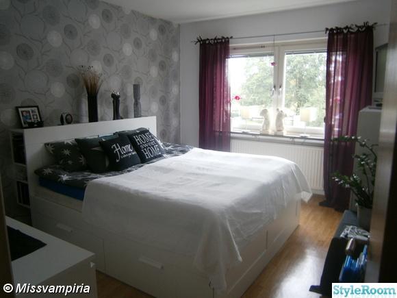 brimnes,brimnes sängstomme,brimnes sänggavel,vit säng,sovrum