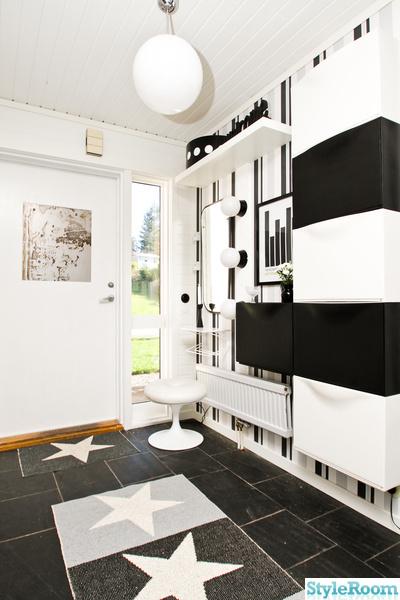 svart,vitt,hall,randig,pappelina,träd,spegel,skoskåp,belysning