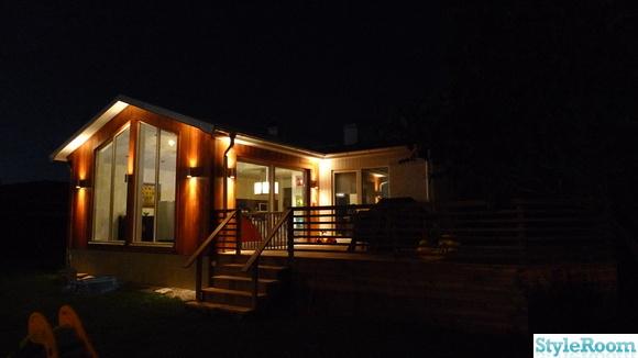 utbyggnad,fasadbelysning,terrass,cederträ,ceder