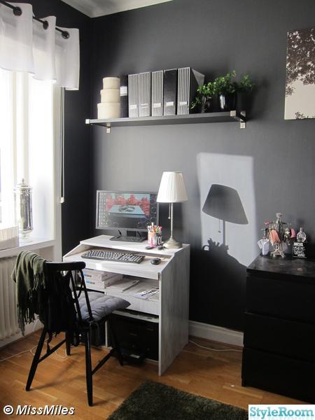 skrivbord,datorhörna,pärmar,förvaring