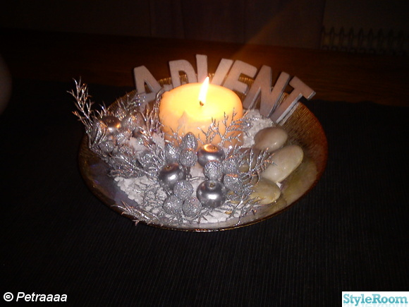 Silver advent julpynt dekoration inspiration och id er till ditt hem - Dekoration advent ...