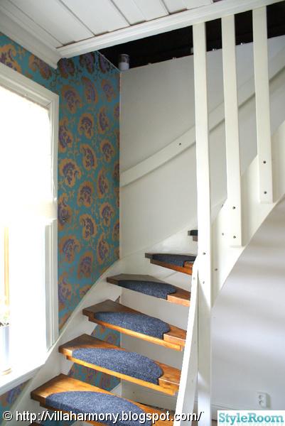 trappa,fondvägg,tapet