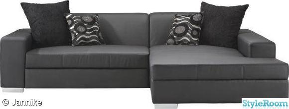 bäddsoffa,soffa,svart soffa