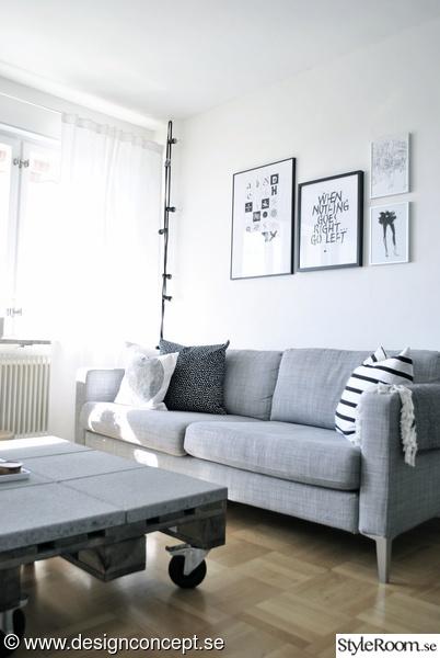 soffa,grå soffa,soffa ikea,soffa karlstad,soffbord av lastpallar