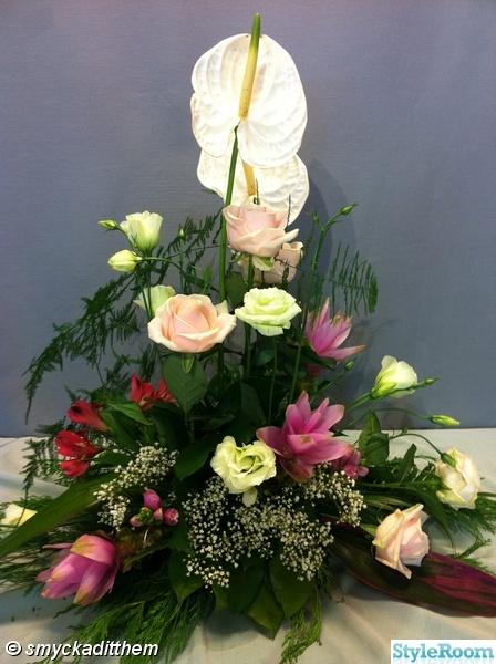 begravningsdekoration,blommor