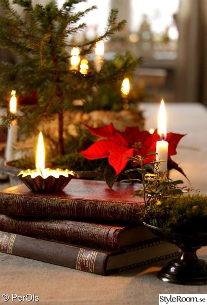 juldukning,ljus,julstjärna,kakform,böcker
