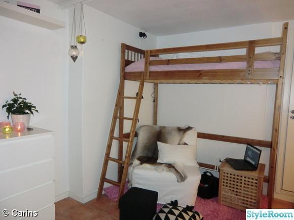 ljuslyktor,loftsäng,renskinn,förvaring,compact living