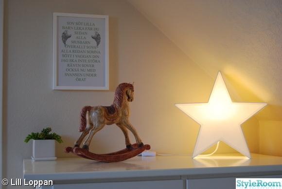 byrå,ikea,stjärnlampa,lampa,tavla