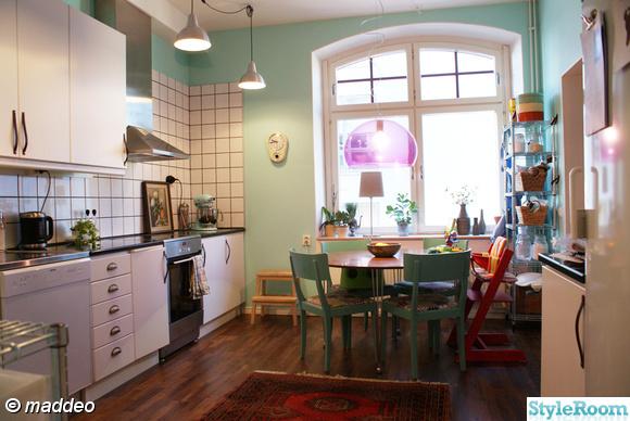 kök,kakel,fönster,kartell,matta