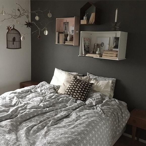 Inspirerande bilder på grått sovrum