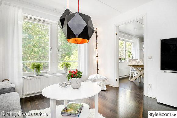 granit,vardagsrum,compact living,svart golv