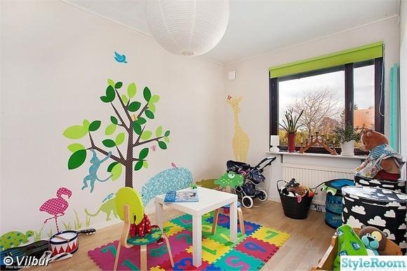Wallstickers barnrum Inspiration och idéer till ditt hem