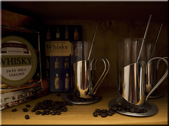 whisk,whiskeyhörna,irish coffe,kaffebönor