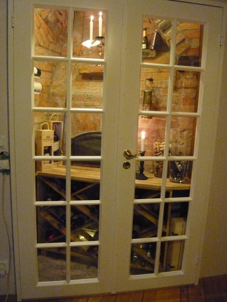 dubbeldörrar,glasdörrar,vinkällare,swedoor,beijer byggmaterial