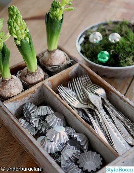 besticklåda,julpynt,julgrupp,hyacint