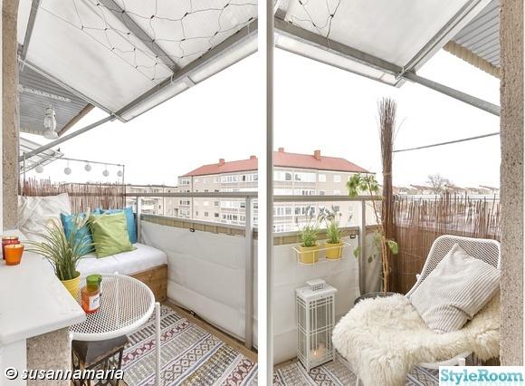 balkong,utemöbler,bambu,balkongmatta,lykta balkong