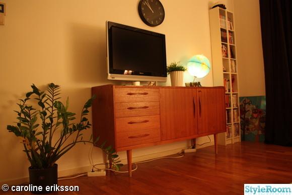 vardagsrum,tv-bänk,sideboard,teak,50-tal