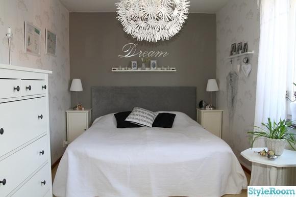 Sovrum i vitt och grått Inspiration och idéer till ditt hem