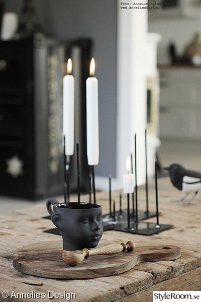 vardagsrum,soffbord,mugg ansikte,ljusstake,candle cross