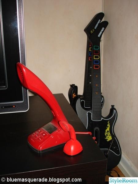 cobra,cobratelefon,guitar hero,rött och svart,svart och rött