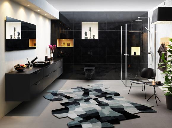 badrum,svart badrum,dusch,duschhörna