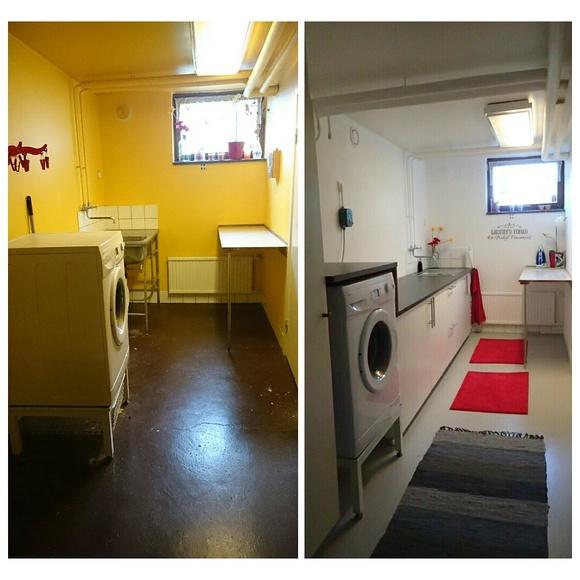 tvättstuga,före och efter,före & efter