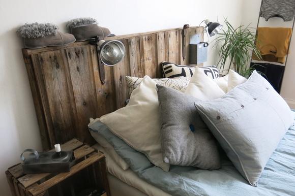 Inspirerande bilder på diy sänggavel