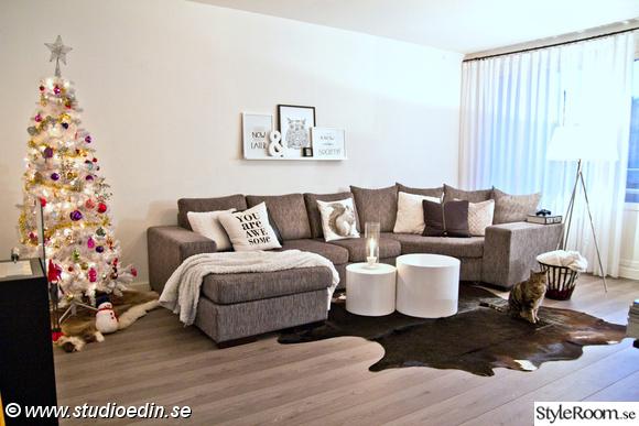 julgran,soffa,fotovägg,kopläd,katt