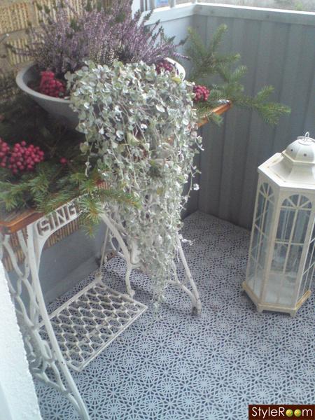 balkong,advent,ljung,symaskinsbord