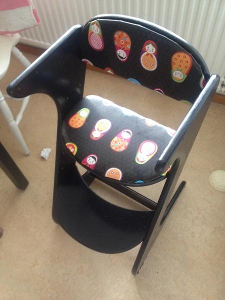 måla barnstol