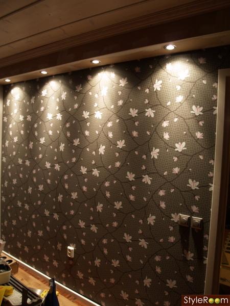spotlights,fondvägg,väggtapet