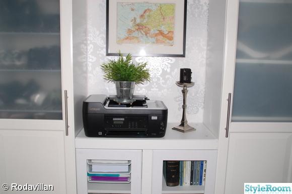 Bild på nytt kontor Blandade bilder på nystylat sovrum, vardagsrum, kök, kontor och pimpade