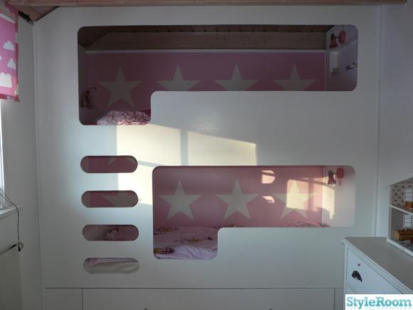 barnrum,våningssäng,rosa