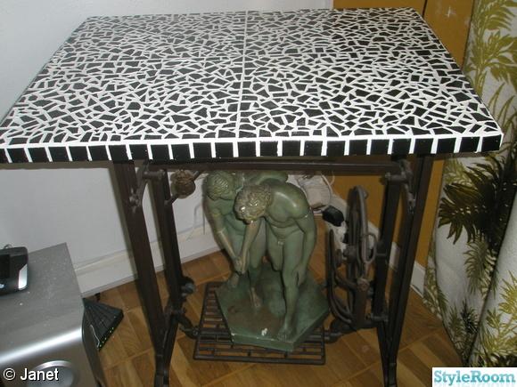 svart vitt mosaik skiva,mosaikbord