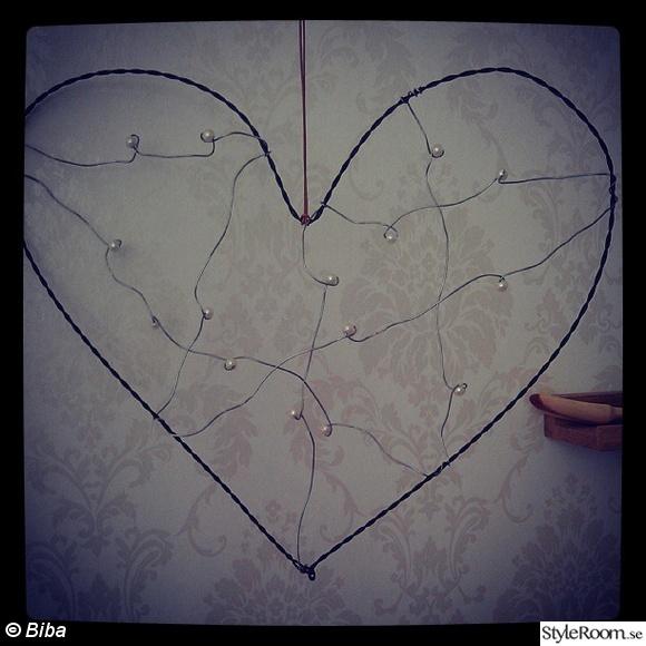 luffarslöjd,hjärta dekoration